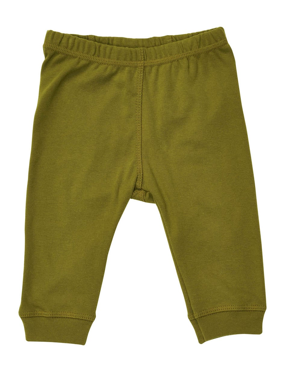 Olive organic pajamas made in the USA