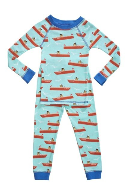 Organic kids pajamas with boats
