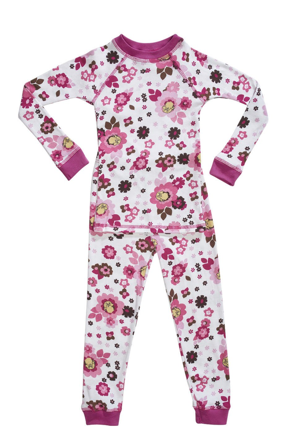 Organic cotton kids pajamas floral pattern