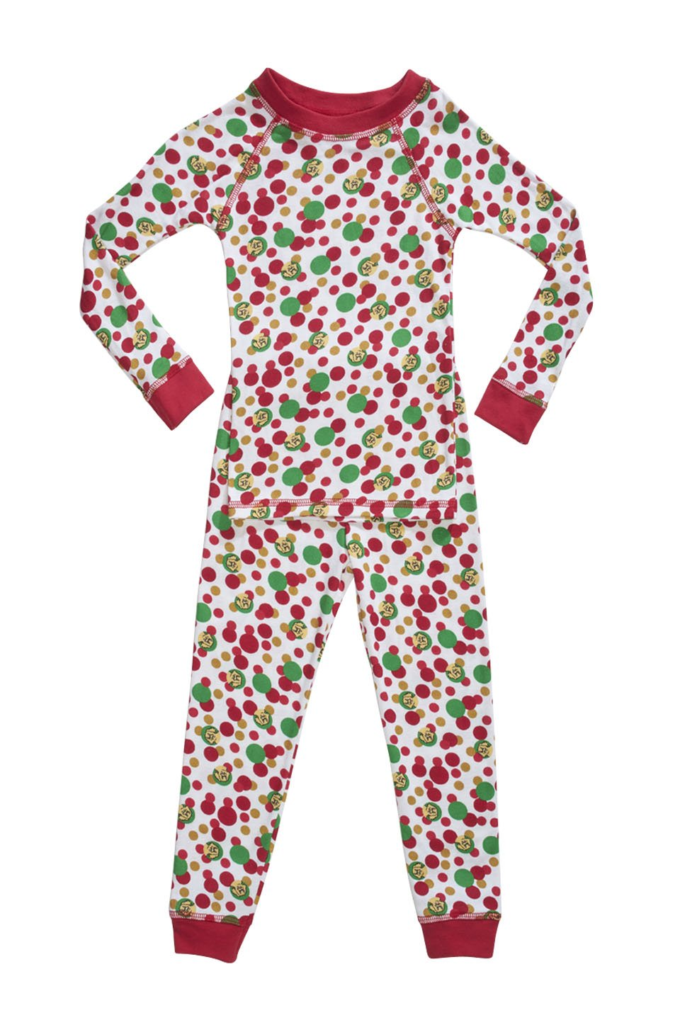 Holiday theme organic pajamas made in the USA.