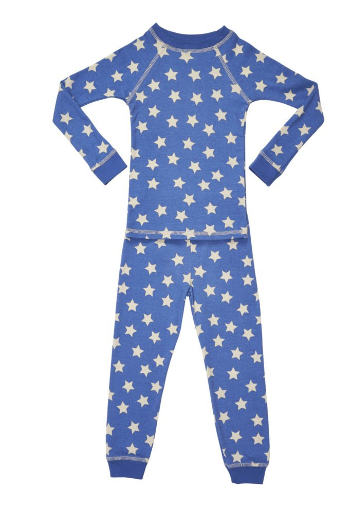 Organic Cotton Kids Pajamas Stars Pattern