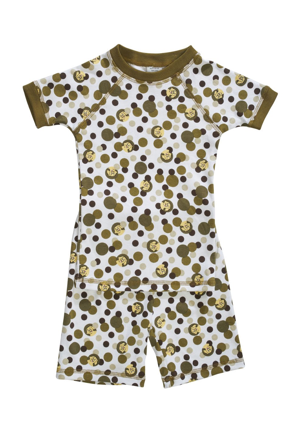 Camo themed organic kids pajamas