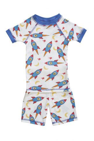 Organic kids pajamas with rockets