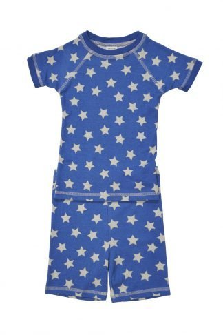 Star pattern organic cotton pajamas for kids