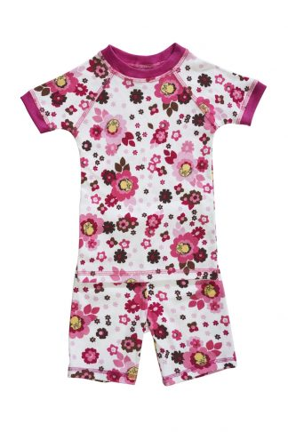 floral print short sleeve pajamas