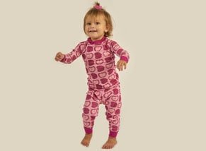 Organic Cotton Pajamas for Girls Apple Print
