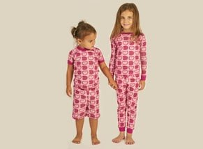 Organic Short Sleeve Girls Pajamas Apple Print