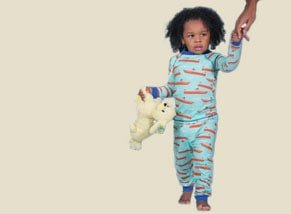 Boy Organic Cotton Pajamas Boat Print