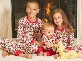 Organic Kids Pajamas Holiday print