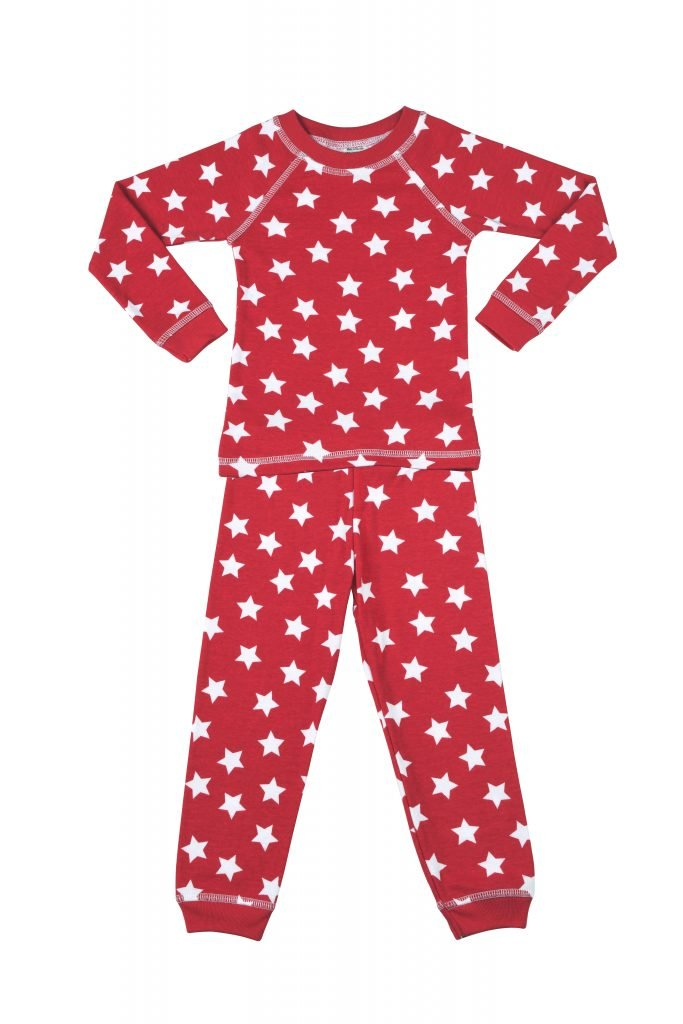 Organic boys star pajamas, organic star girls pajamas