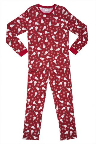 Men's pajamas with snowman print