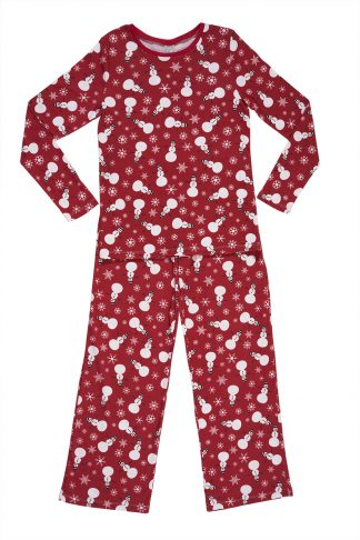 Women's pajamas with snowman print