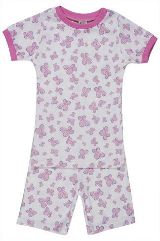 Short sleeve butterfly print pajamas